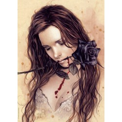 Puzzle Czarna róża