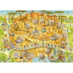 Puzzle Zabawne ZOO - Afryka
