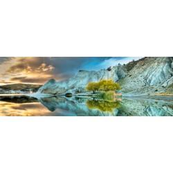 Puzzle Niebieskie jezioro - PUZZLE PANORAMICZNE