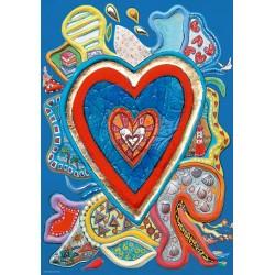 Puzzle Niebiesko-czerwone serce