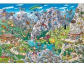 Puzzle Zabawa w Alpach