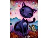 Puzzle Czarny kotek