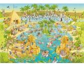 Puzzle Zabawne Zoo - ekspozycja o Nilu