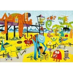 Puzzle Potwory na plaży