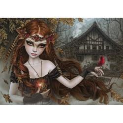 Puzzle Czerwony ptak