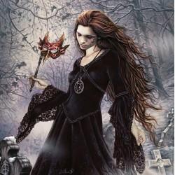 Puzzle Dziewczyna w czerni