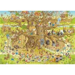 Puzzle Zabawne ZOO - pawilon z małpami