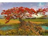 Puzzle Czerwone drzewo