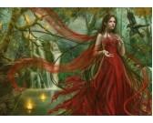 Puzzle Piękność w czerwonej sukni