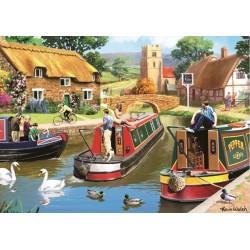 Puzzle Życie na kanale wodnym