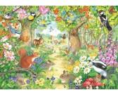 Puzzle Zwierzątka z naszego lasu