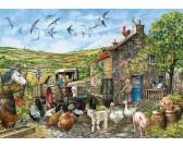 Puzzle Dzień na angielskiej farmie