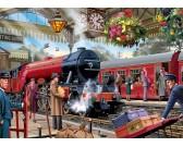 Puzzle Oczekiwanie na peronie kolejowym