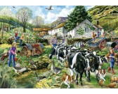 Puzzle Zwykły dzień na farmie