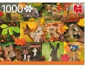 Puzzle Jesienne zwierzęta
