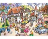 Puzzle Wioska w górach - WASGIJ PUZZLE