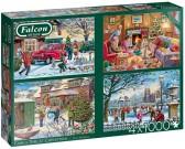 Puzzle Rodzina na Boże Narodzenie