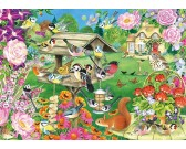 Puzzle Ptaki w ogrodzie