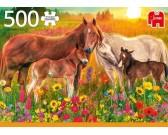 Puzzle Konie na łące