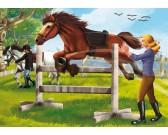Puzzle Skaczący koń - PUZZLE DLA DZIECI