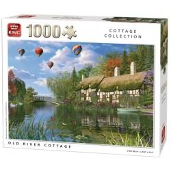 Puzzle Stary dom nad rzeką