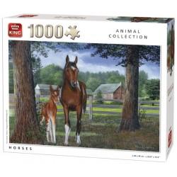Puzzle Konie w zagrodzie