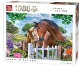 Puzzle Konie przy bramie