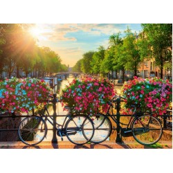 Puzzle Słońce nad Amsterdamem