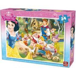 Puzzle Królewna Śnieżka - wizyta Księcia - PUZZLE DLA DZIECI