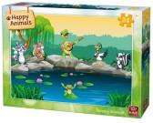 Puzzle Zwierzęta nad wodą - PUZZLE DLA DZIECI