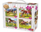 Puzzle Życie wśród koni - PUZZLE DLA DZIECI
