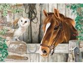 Puzzle Koń i sowa