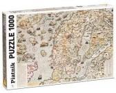 Puzzle Mapa morska z 1572 r