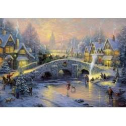 Puzzle Wioska w zimie