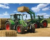 Puzzle Traktory Fendt - ładowanie siania - PUZZLE DLA DZIECI