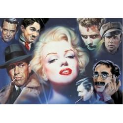 Puzzle Marilyn Monroe z przyjaciółmi