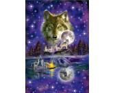 Puzzle Wilki w blasku księżyca