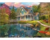 Puzzle Domek przy jeziorze