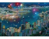 Puzzle Fajerwerki w Hongkongu