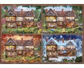 Puzzle Dom - cztery pory roku
