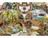 Puzzle Egzotyczna mapa świata