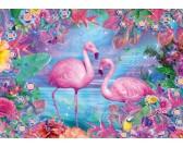Puzzle Flamingi