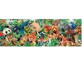 Puzzle Świat zwierząt - PUZZLE PANORAMICZNE
