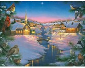 Puzzle Cicha noc w zimie - XXL