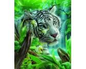 Puzzle Biały tygrys z raju