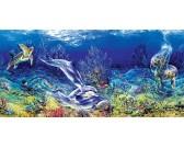 Puzzle Gry na rafie koralowej - PUZZLE PANORAMICZNE