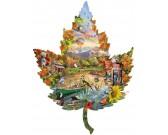 Puzzle Liść - jesień