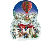 Puzzle Bożonarodzeniowy balon