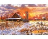 Puzzle Zaśnieżona farma
