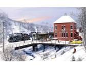 Puzzle Stacja kolejowa zimą